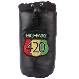 Highway 420 Genuine Leather Storage Bag